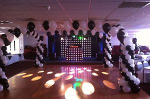 Dance floor balloon canapy