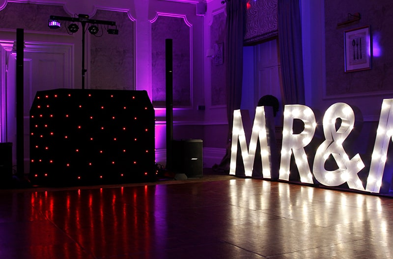 Mr Mrs LED Hire