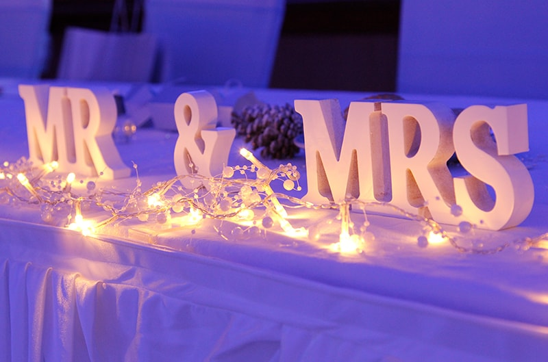 Mr Mrs letter hire