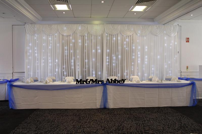 White Led Back drops