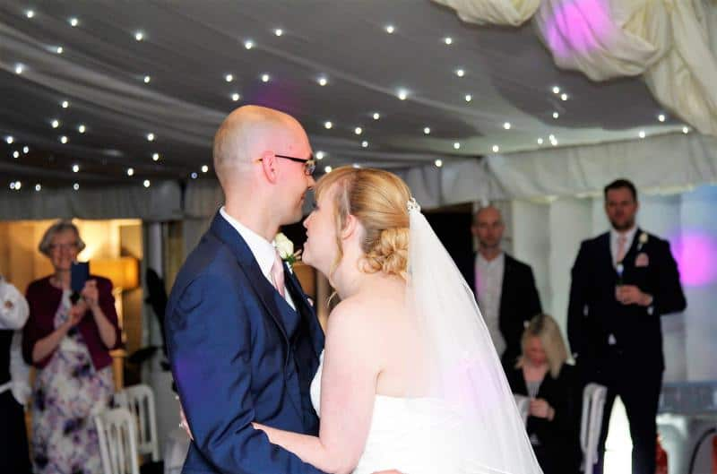 Mobile Disco In Dunchurch with Bride and Groom