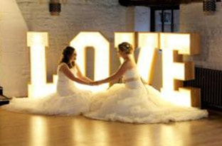 hire led love letters