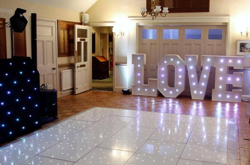 Mobile Disco In Atherstone with Dance floor