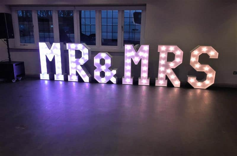 Led Mr and Mrs Letters Hire Solihull