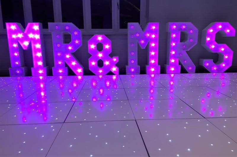Mobile Disco Hire In Solihull with Led Dance floor and led Letters