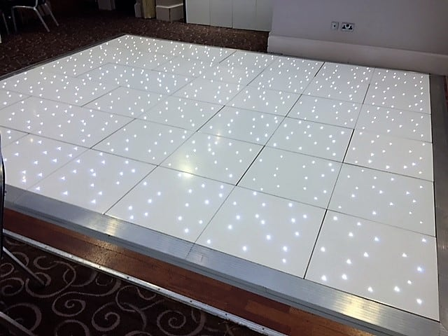 White Led Dance Floor In Wolverhampton