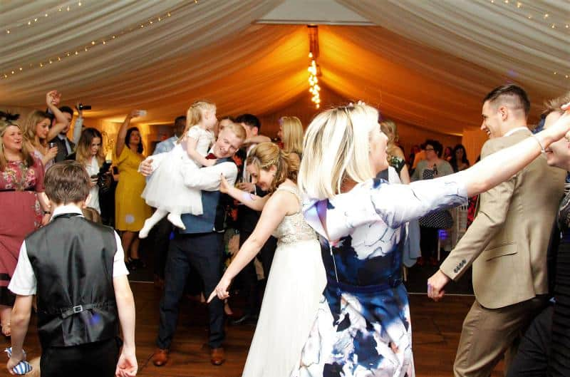 Mobile Disco in Buxton with busy dance floor