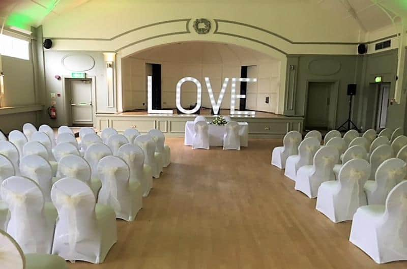 Chair covers and venue decoration in birmingham