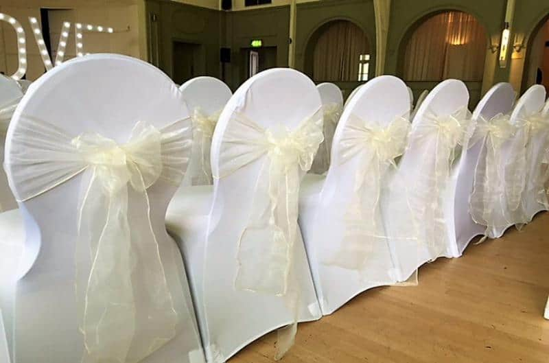 Hire white chair covers in Birmingham