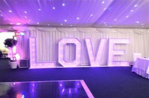 Mobile Disco In Barlaston with Large Led Letters