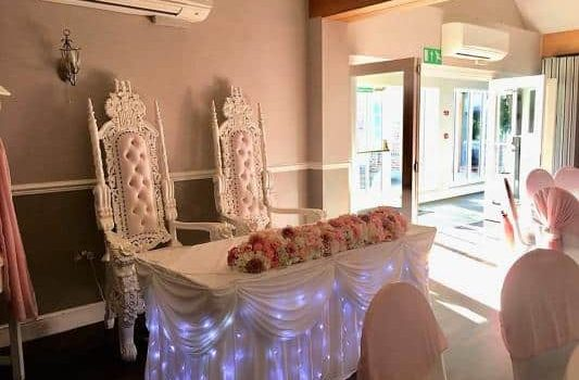 Bride and Groom Throne Chairs