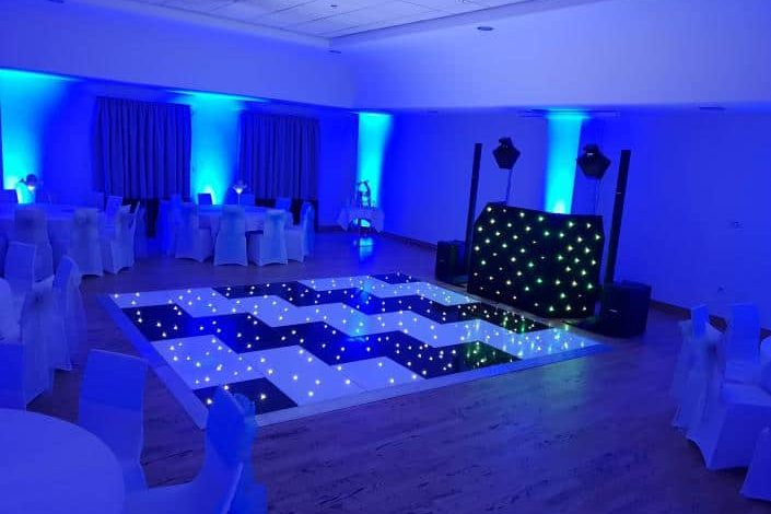 Black and White led Dance floors