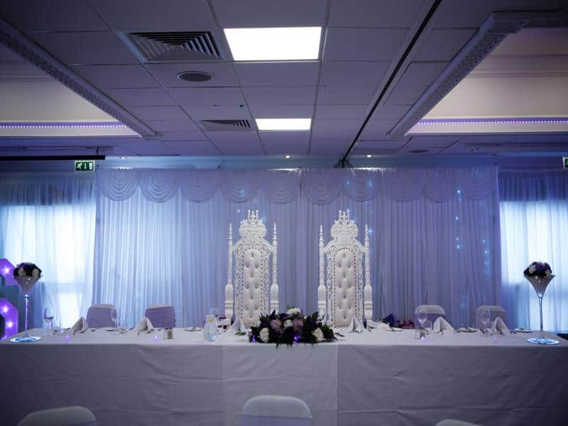 Wedding Throne and Led Backdrop