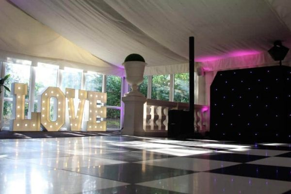 Black and White Floor Hire